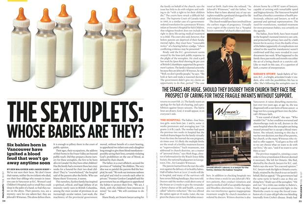 Article Preview: THE SEXTUPLETS: WHOSE BABIES ARE THEY?, FEB. 19th 2007 2007 | Maclean's