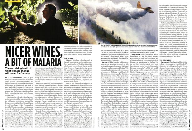 Article Preview: NICER WINES, A BIT OF MALARIA, FEB. 26th 2007 2007 | Maclean's