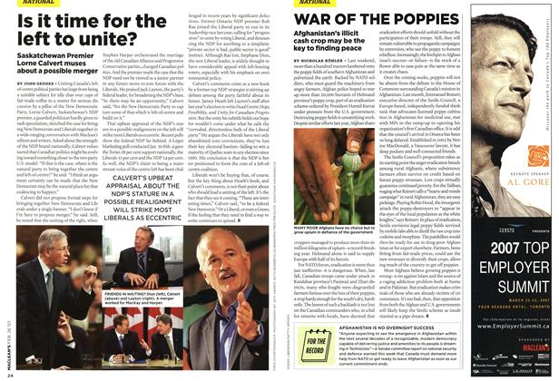 Article Preview: WAR OF THE POPPIES, FEB. 26th 2007 2007 | Maclean's