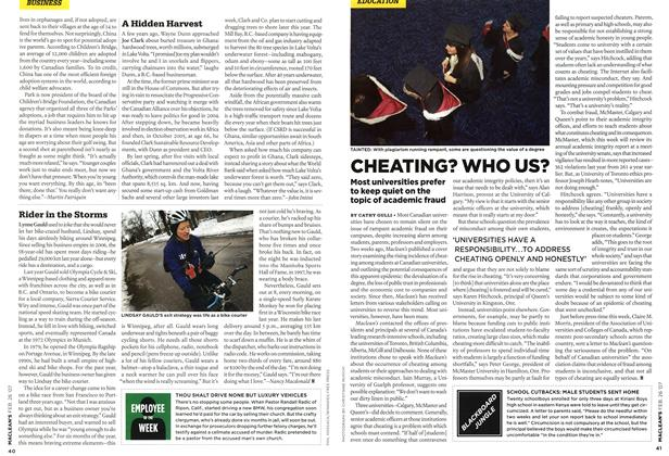 Article Preview: CHEATING? WHO US?, FEB. 26th 2007 2007 | Maclean's