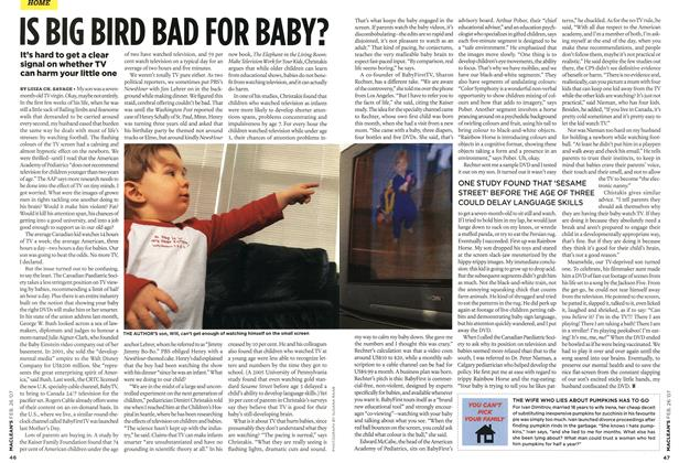 Article Preview: IS BIG BIRD BAD FOR BABY?, FEB. 26th 2007 2007 | Maclean's
