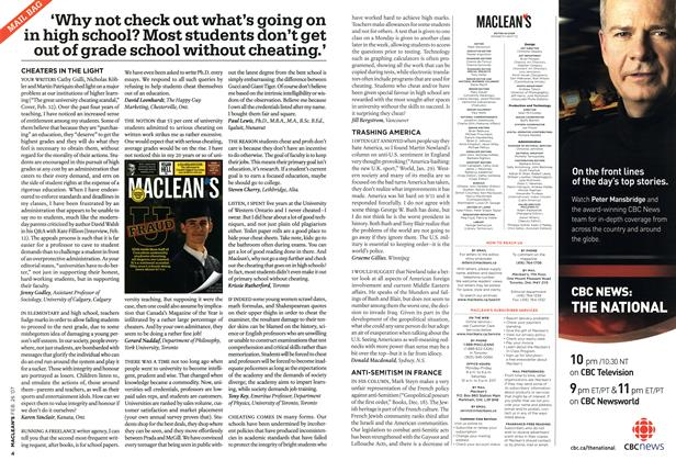 Article Preview: MAIL BAG, FEB. 26th 2007 2007 | Maclean's