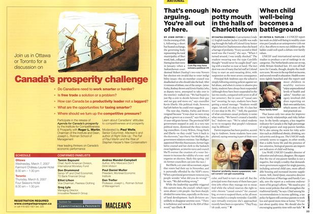 Article Preview: That's enough arguing. You're all out of here., MAR. 5th 2007 2007 | Maclean's