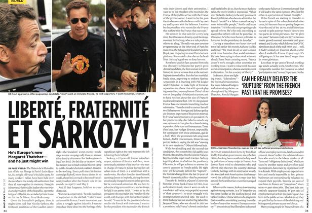 Article Preview: LIBERTÉ, FRATERNITÉ ET SARKOZY!, MAR. 5th 2007 2007 | Maclean's