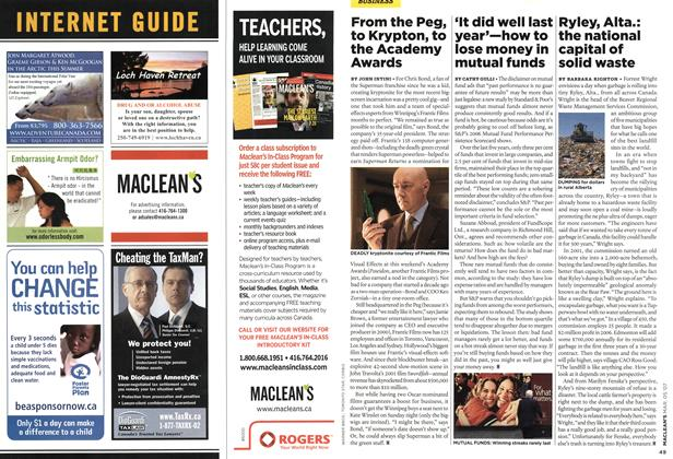 Article Preview: From the Peg, to Krypton, to the Academy Awards, MAR. 5th 2007 2007 | Maclean's