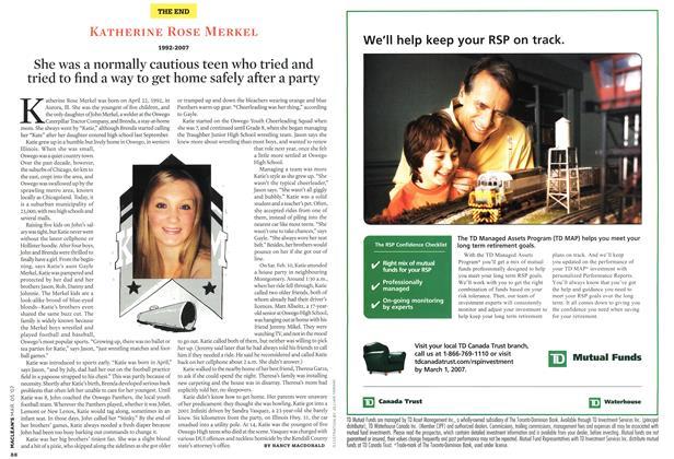 Article Preview: KATHERINE ROSE MERKEL 1992-2007, MAR. 5th 2007 2007   Maclean's