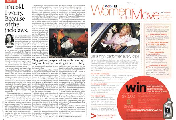 Article Preview: It's cold. I worry. Because of the jackdaws., MAR. 5th 2007 2007 | Maclean's