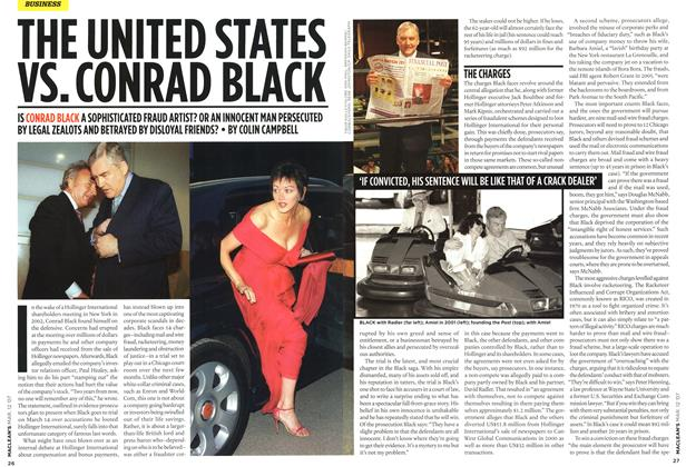 Article Preview: THE UNITED STATES VS. CONRAD BLACK, March 2007 | Maclean's