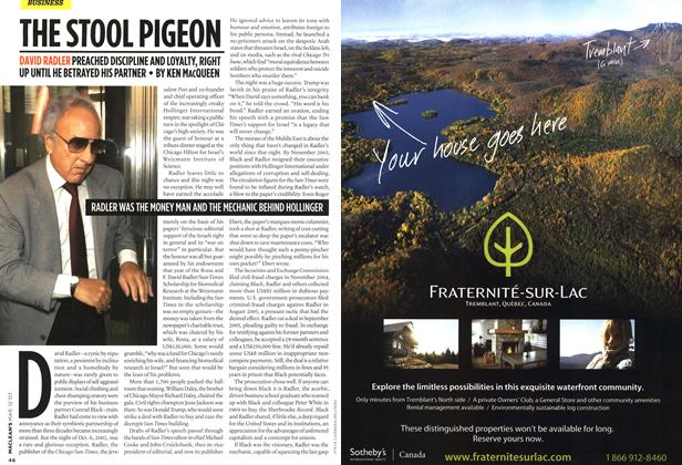 Article Preview: THE STOOL PIGEON, March 2007 | Maclean's