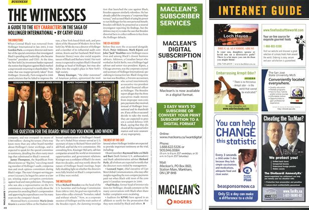 Article Preview: THE WITNESSES, March 2007 | Maclean's