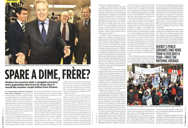 Article Preview: SPARE A DIME, FRERE?, MAR. 19th 2007 2007 | Maclean's