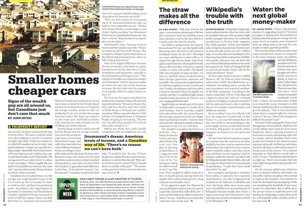 Article Preview: Smaller homes cheaper cars, MAR. 19th 2007 2007 | Maclean's