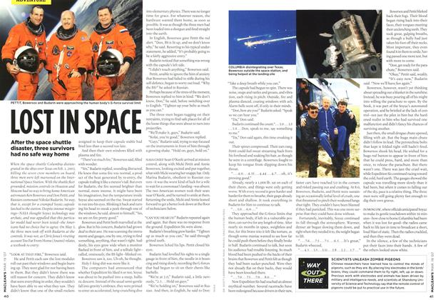 Article Preview: LOST IN SPACE, MAR. 19th 2007 2007 | Maclean's