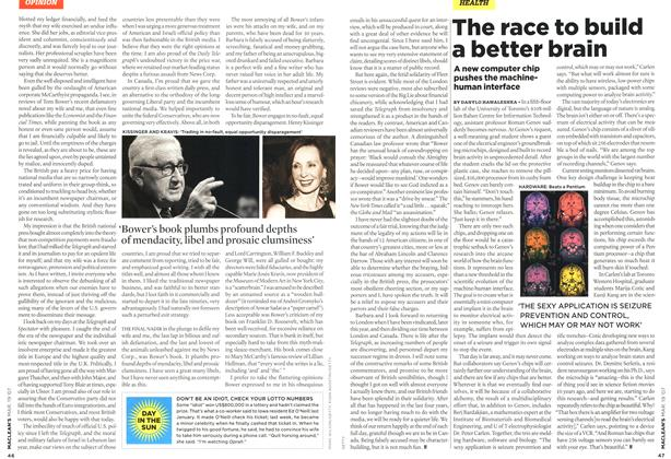 Article Preview: The race to build a better brain, MAR. 19th 2007 2007 | Maclean's