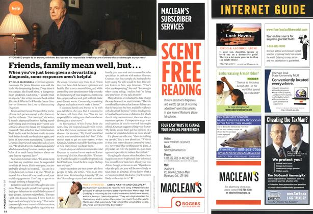 Article Preview: Friends, family mean well, but..., MAR. 19th 2007 2007 | Maclean's