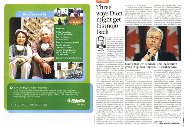 Article Preview: Three ways Dion might get his mojo back, MAR. 19th 2007 2007 | Maclean's