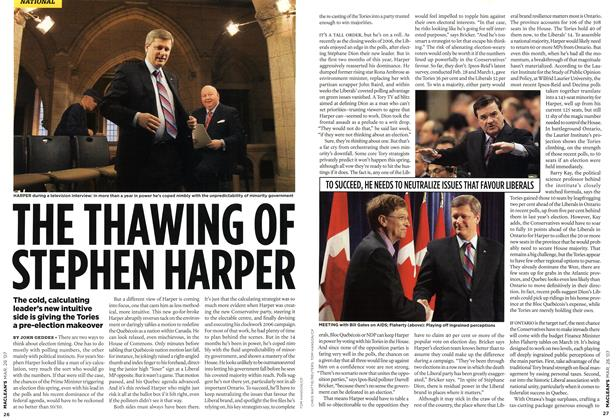 Article Preview: THE THAWING OF STEPEN HARPER, MAR. 26th 2007 2007 | Maclean's