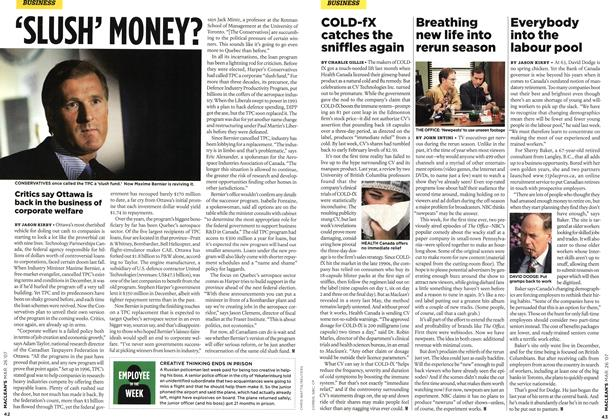 Article Preview: COLD-fX catches the sniffles again, MAR. 26th 2007 2007 | Maclean's