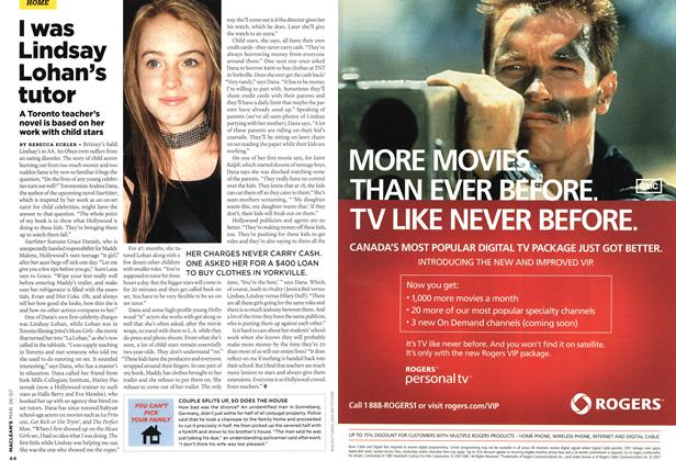 Article Preview: I was Lindsay Lohan's tutor, MAR. 26th 2007 2007   Maclean's