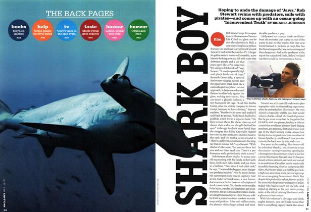Article Preview: SHARK BOY, MAR. 26th 2007 2007 | Maclean's