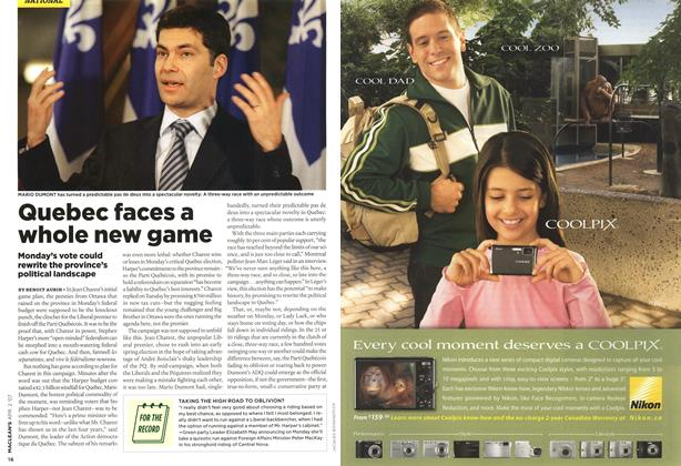 Article Preview: Quebec faces a whole new game, APR. 2nd 2007 2007 | Maclean's