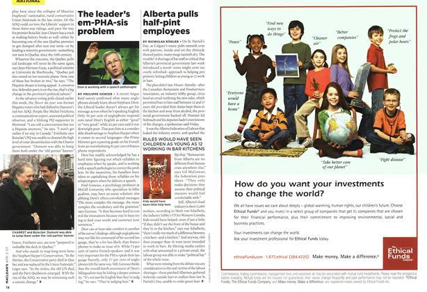 Article Preview: Alberta pulls half-pint employees, APR. 2nd 2007 2007 | Maclean's