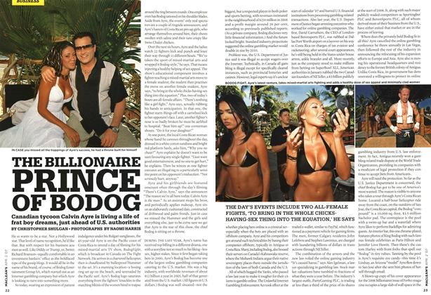 Article Preview: THE BILLIONAIRE PRINCE OF BODOG, APR. 2nd 2007 2007 | Maclean's