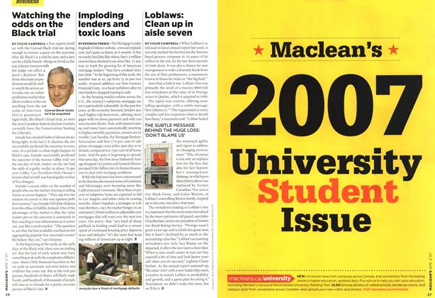 Article Preview: Imploding lenders and toxic loans, APR. 2nd 2007 2007 | Maclean's