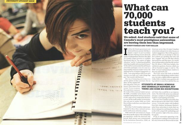 Article Preview: What can 70,000 students teach you?, APR. 2nd 2007 2007 | Maclean's