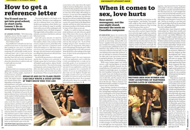 Article Preview: When it comes to SEX, love hurts, APR. 2nd 2007 2007   Maclean's
