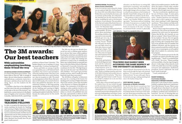 Article Preview: The 3M awards: Our best teachers, APR. 2nd 2007 2007 | Maclean's