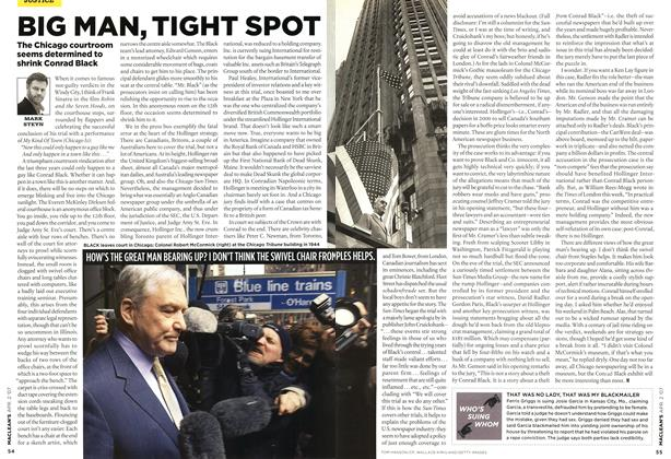Article Preview: BIG MAN, TIGHT SPOT, APR. 2nd 2007 2007 | Maclean's