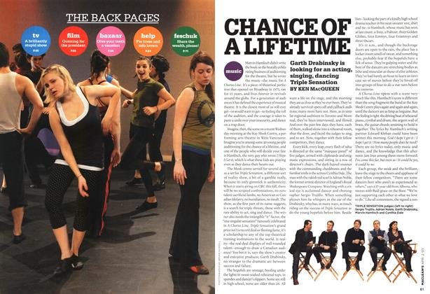 Article Preview: CHANCE OF A LIFETIME, APR. 2nd 2007 2007 | Maclean's