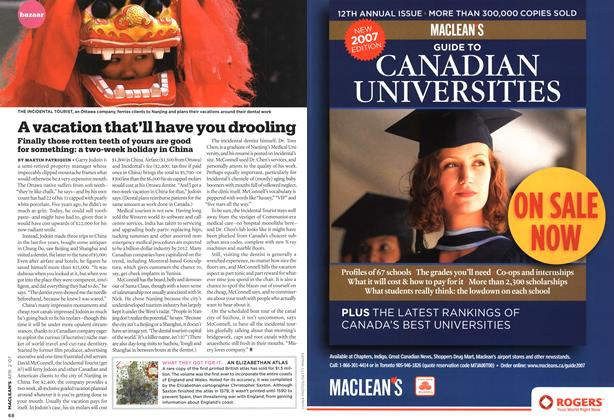 Article Preview: A vacation that'll have you drooling, APR. 2nd 2007 2007 | Maclean's