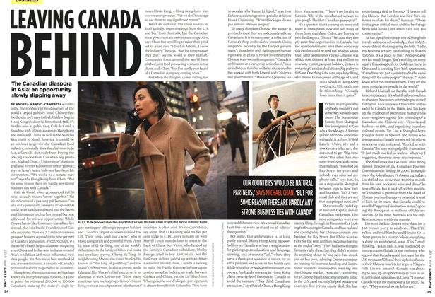 Article Preview: LEAVING CANADA BEHIND, APR. 9th 2007 2007 | Maclean's