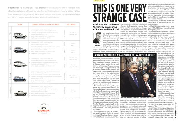 Article Preview: THIS IS ONE VERY STRANGE CASE, APR. 9th 2007 2007 | Maclean's