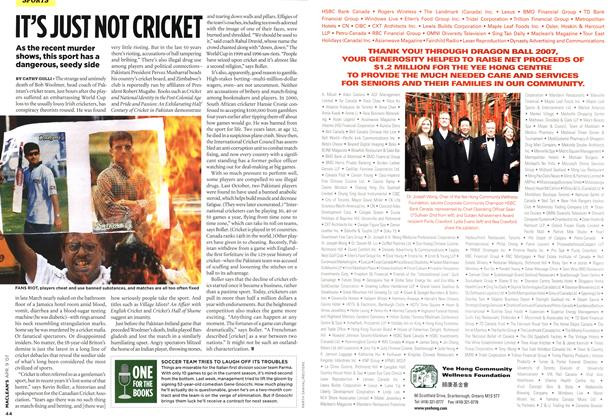 Article Preview: ONE FOR THE BOOKS, APR. 9th 2007 2007 | Maclean's