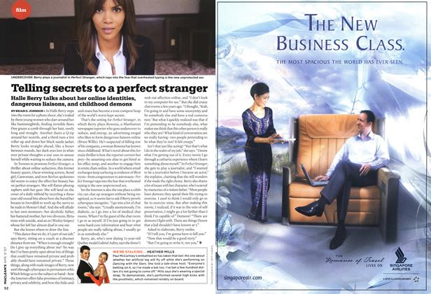 Article Preview: Telling secrets to a perfect stranger, APR. 9th 2007 2007 | Maclean's
