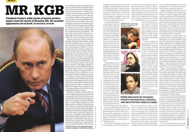 Article Preview: MR. KGB, APR. 16th 2007 2007 | Maclean's