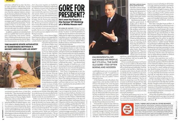 Article Preview: GORE FOR PRESIDENT?, APR. 16th 2007 2007 | Maclean's