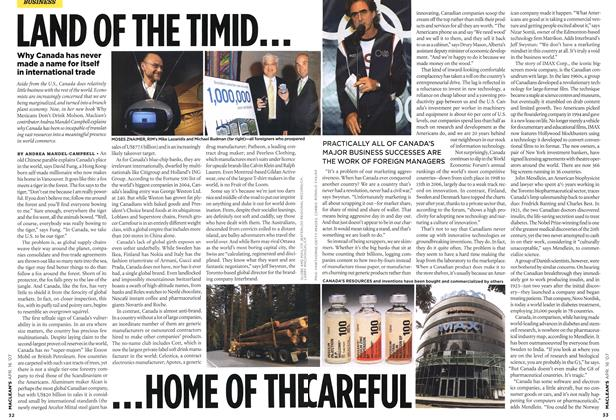 Article Preview: LAND OF THE TIMID......HOME OF THE CAREFUL, APR. 16th 2007 2007 | Maclean's
