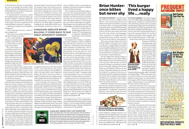 Article Preview: This burger lived a happy life... really, APR. 16th 2007 2007 | Maclean's