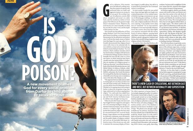 Article Preview: IS GOD POISON?, APR. 16th 2007 2007 | Maclean's