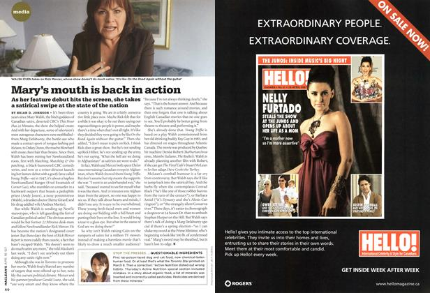 Article Preview: Mary's mouth is back in action, APR. 16th 2007 2007 | Maclean's