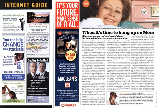 Article Preview: When it's time to hang up on Mom, APR. 16th 2007 2007 | Maclean's