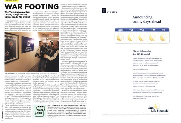 Article Preview: WAR FOOTING, APR. 23rd 2007 2007 | Maclean's