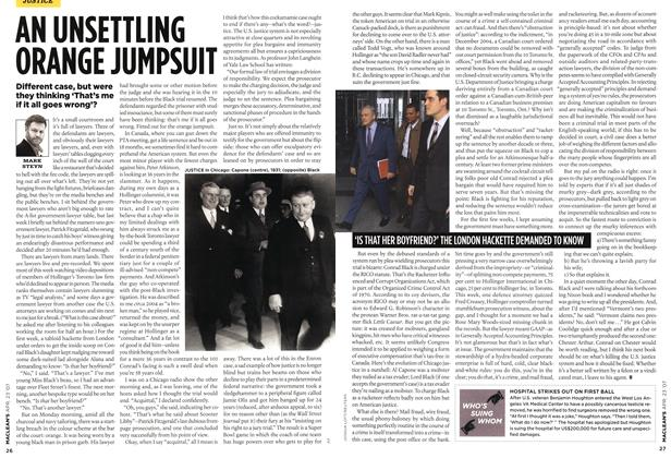 Article Preview: AN UNSETTLING ORANGE JUMPSUIT, APR. 23rd 2007 2007 | Maclean's