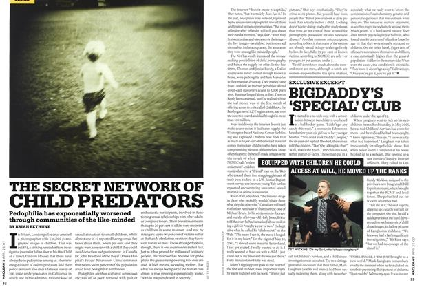 Article Preview: THE SECRET NETWORK OF CHILD PREDATORS, APR. 23rd 2007 2007 | Maclean's