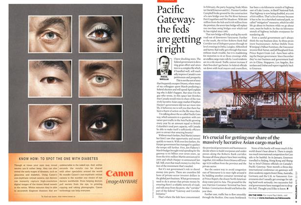Article Preview: Pacific Gateway: the feds are getting it right, APR. 23rd 2007 2007 | Maclean's