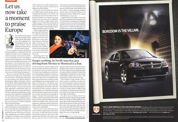 Article Preview: Let us now take a moment to praise Europe, APR. 23rd 2007 2007 | Maclean's